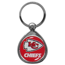 Siskiyou Buckle SFK045C Kansas City Chiefs Chrome Key Chain