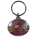 Siskiyou Buckle SFK046 Kansas City Chiefs Oval Carved Metal Key Chain