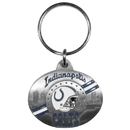 Siskiyou Buckle SFK051 Indianapolis Colts Oval Carved Metal Key Chain