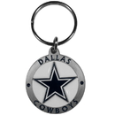 Siskiyou Buckle SFK055Z Dallas Cowboys Carved Metal Key Chain