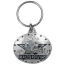 Siskiyou Buckle SFK056 Dallas Cowboys Oval Carved Metal Key Chain