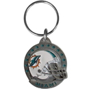 Siskiyou Buckle SFK060 Miami Dolphins Carved Metal Key Chain