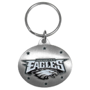 Siskiyou Buckle SFK066 Philadelphia Eagles Oval Carved Metal Key Chain