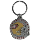 Siskiyou Buckle SFK075 San Francisco 49ers Carved Metal Key Chain