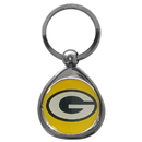 Siskiyou Buckle SFK115C Green Bay Packers Chrome Key Chain