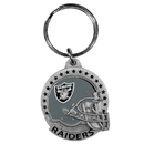 Siskiyou Buckle SFK125 Oakland Raiders Carved Metal Key Chain