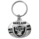 Siskiyou Buckle SFK126 Oakland Raiders Oval Carved Metal Key Chain