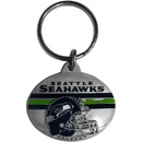 Siskiyou Buckle SFK156 Seattle Seahawks Oval Carved Metal Key Chain