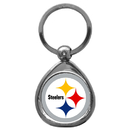 Siskiyou Buckle SFK160C Pittsburgh Steelers Chrome Key Chain