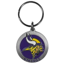Siskiyou Buckle SFK165Z Minnesota Vikings Carved Metal Key Chain