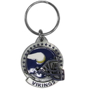 Siskiyou Buckle SFK165 Minnesota Vikings Carved Metal Key Chain