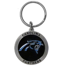 Siskiyou Buckle SFK171Z Carolina Panthers Carved Metal Key Chain