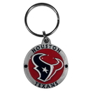 Siskiyou Buckle SFK190Z Houston Texans Carved Metal Key Chain
