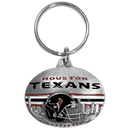 Siskiyou Buckle SFK191 Houston Texans Oval Carved Metal Key Chain
