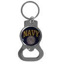 Siskiyou Buckle Navy Bottle Opener Key Chain, SKB17C