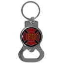 Siskiyou Buckle Firefighter Bottle Opener Key Chain, SKB20C