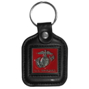Siskiyou Buckle SLS19 Sq. Leather Keychain - - US Marines