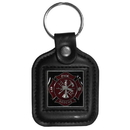 Siskiyou Buckle SLS20 Sq. Leather Keychain - - Fire Fighter