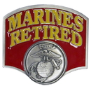 Siskiyou Buckle STH19C Marines Retired Hitch Cover