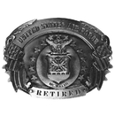 Siskiyou Buckle Air Force Retired Antiqued Belt Buckle, U6