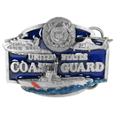 Siskiyou Buckle U80E US Coast Guard Enameled Belt Buckle