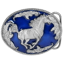 Siskiyou Buckle V256E Galloping Horse Enameled Belt Buckle
