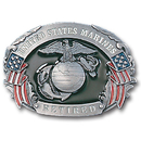 Siskiyou Buckle V6E Marines Retired - Enameled Belt Buckle