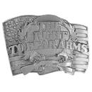 Siskiyou Buckle Right to Bear Arms Antiqued Belt Buckle, Y89