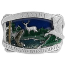 Siskiyou Buckle Z22E Canada Wild/Wonderful Enameled Belt Buckle