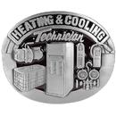 Siskiyou Buckle Z8E Heating & Cooling Technician Enameled Belt Buckle