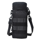 Molle Water Bottle Pouch, Military Tactical 32 Oz Drink Holder Carrier with Detachable Shoulder Strap, 2 American Flag Patches Optional