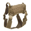 Tactical Dog Harness, K9 Working Dog Vest, No Pulling Adjustable Pet Harness with Front Clip and Handle for Medium Large Dogs Training Hunting