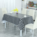 Muka Plaid PVC Tablecloth, Waterproof Spillproof Checked Table Cloth Easy Care Dinning Table Cover