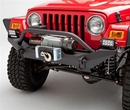 Body Armor B-ATJ-19531 Jeep Wrangler Formed Front Bumper with Grill Guard and Winch Mount