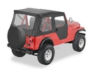 Bestop BST51405-01 Tigertop with Clear Windows and One-Piece Doors