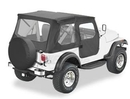 Bestop BST51408-01 Tigertop with Clear Windows and One-Piece Doors
