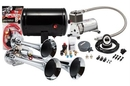 Kleinn Automotive K-AHK3 Complete triple air horn package with 130 psi sealed air system