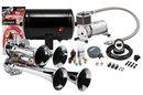 Kleinn Automotive K-AHK4 Complete quad air horn package with 130 PSI sealed air system