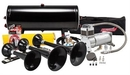 Kleinn Automotive K-AHK7 Complete triple train horn package with 150 psi 100% duty sealed air system