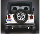 Olympic 4X4 Products OLY353-121 Maxi Double Tube Bumper with Receiver Hitch in Gloss Black