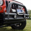 Rugged Ridge RUG11561-12 Stub 3 Inch Double Tube Front Winch Mount Bumper