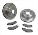 Stainless Steel Brakes SSBA2351021 Turbo Slotted Rotors