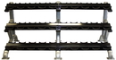 Troy Barbell DR-15 3 Tier 15 Pair Dumbbell Saddle Rack