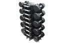 VTX GVDR-13 Vertical 4-Tier Dumbbell Rack, Holds 13 Pairs (3-50 lbs).