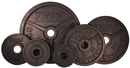Troy Barbell Premium Grade Fully Machined Black Olympic Plate - Wide flange for easy lifting