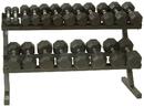 VTX T-DR Horizontal Dumbbell Rack - 2-Tier Rail Rack w/o Saddles