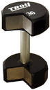 Troy Barbell 12-Sided Urethane Encased Dumbbell with 34 mm Hard Chrome Straight Handle. Sold As Individual.
