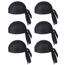 TOPTIE 6 Pieces Sweat Wicking Cycling Beanie Skull Caps Helmet Liner Cooling Cap