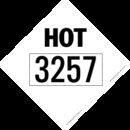 De Leone HMBVHOT3257 Placards, d.o.t. placards - misc, elevated temperature placards, HMBVHOT3257