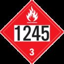 De Leone SDP417 UN 1245 Methanol Isobutyl Ketone - Flammable Liquid, 10¾